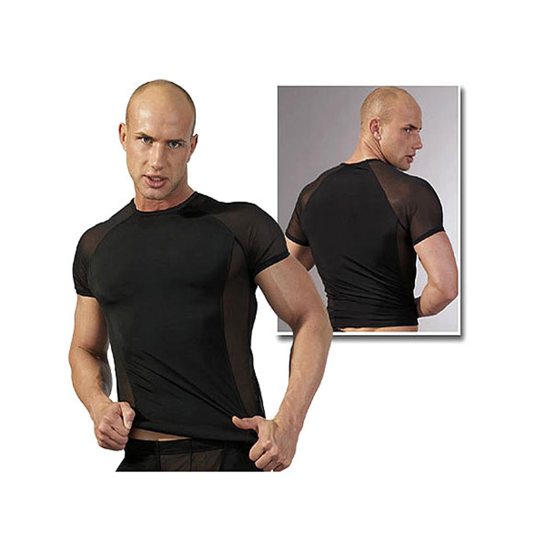 Pánské černé triko s raglánovým rukávem, S