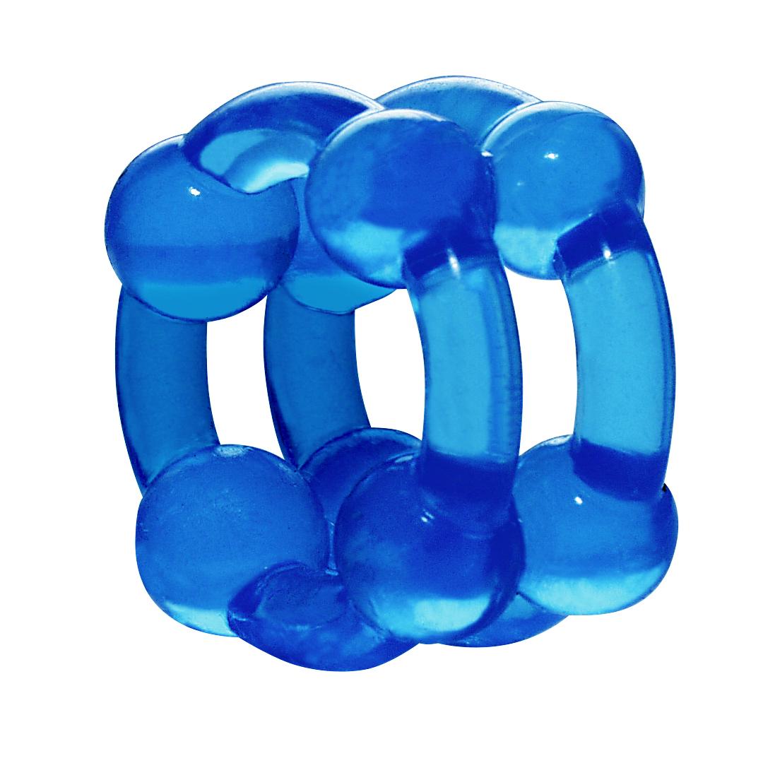 Kroužek na penis - Stronghold Blue
