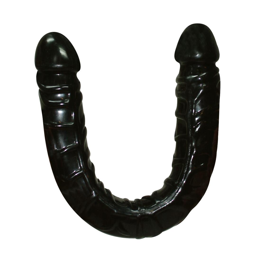 Oboustranný černý masturbátor - Ultra Dongs