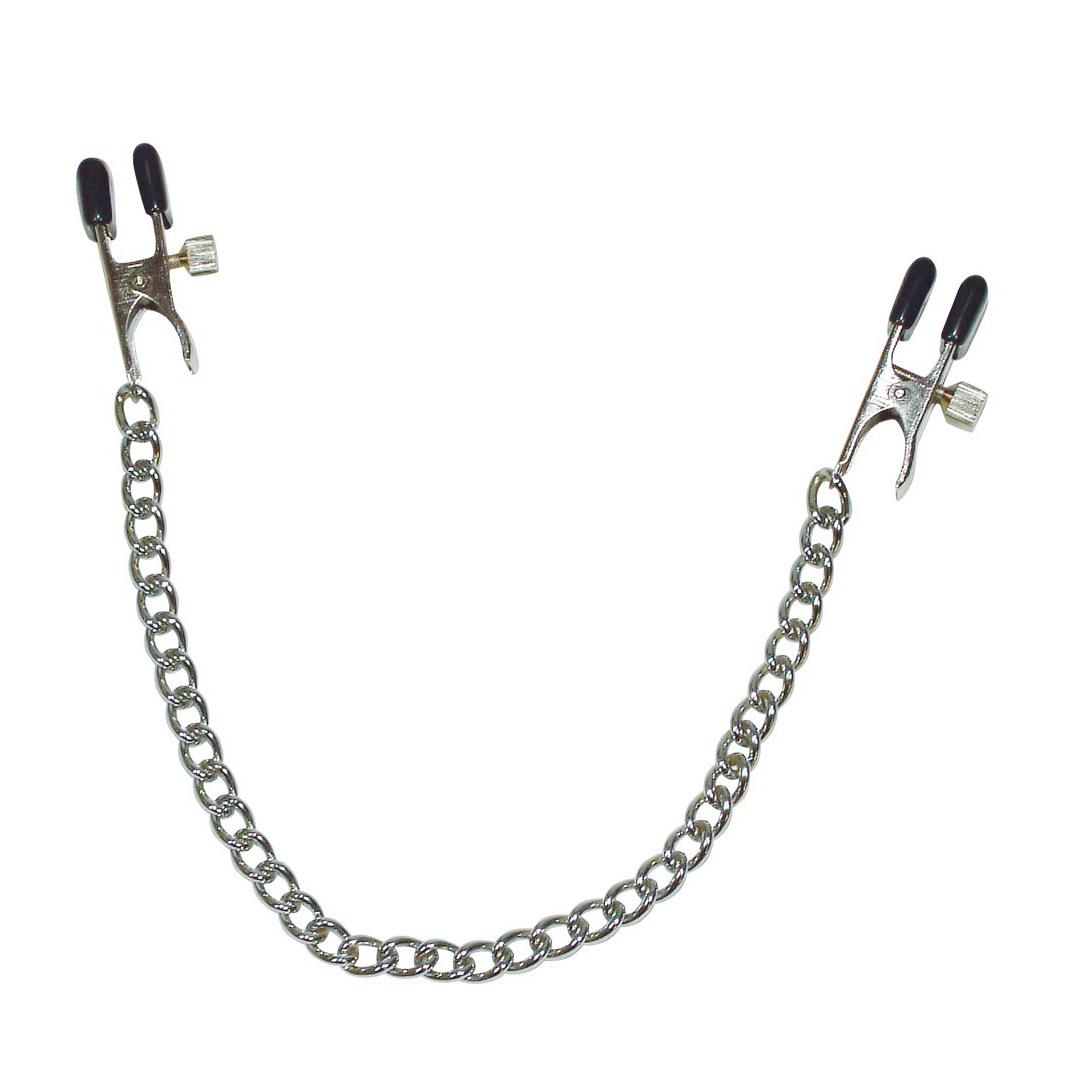 Dámské klipsny na bradavky propojené řetízkem - Sextreme