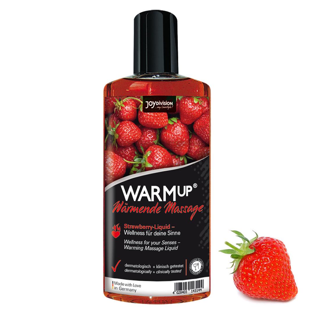 Masážní olej hřející - WARMup Erdbeer