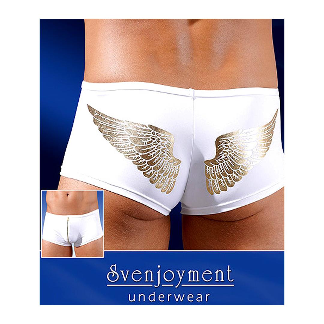 Bílé boxerky se zlatým vzorem Angelo, XL