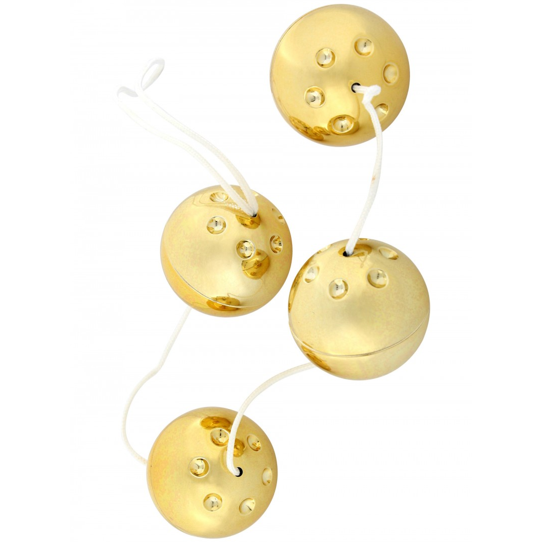 Seven Creations 4 Gold Vibro Balls