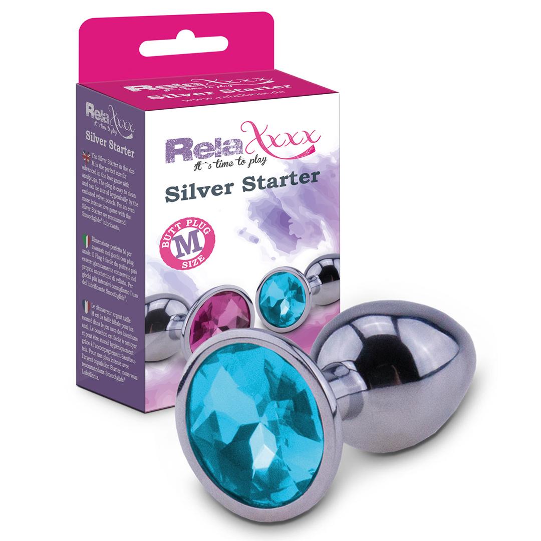 RelaXxxx Silver Starter Plug blue Size M